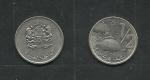 monedas de : Africa : Marruecos : Hassan  II y Escudo Nacional
