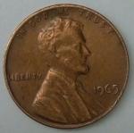 monedas de America - Estados Unidos -  1965 - one cent