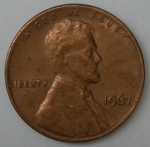 monedas de America - Estados Unidos -  1967 one cent