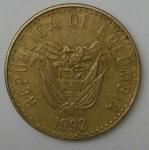monedas de America - Colombia -  1992 - 20 pesos