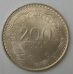 monedas de America - Colombia -  2016 - 200 pesos