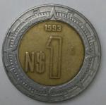 monedas de America - México -  1993 - 1 peso