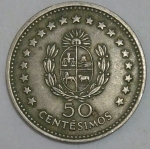 monedas de America - Uruguay -  1960 - 50 centesimos