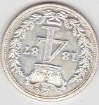monedas de Europa - Reino Unido -  reina Victoria Regina (reverso)