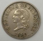 monedas de America - Colombia -  1886- 5 centavos
