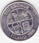 monedas de Europa - Islandia -  f anverso