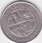 monedas de Europa - Islandia -  g anverso
