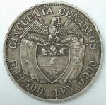 monedas de America - Colombia -  1932 plata 50 centavos