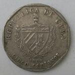 monedas de America - Cuba -  1998 cinco centavos