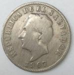 monedas de America - El Salvador -  1967 - 5 centavos