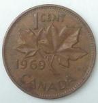 monedas de America - Canadá -  1969 - 1 cent