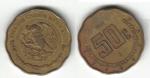 monedas de America - México -  50 Centavos