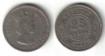 monedas de America - Belice -  25 Centavos