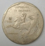 monedas de America - Colombia -  1981 anverso