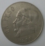 monedas de : America : México : 1980 alverso