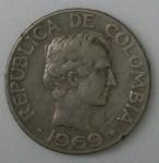 monedas de : America : Colombia : 1969 anverso