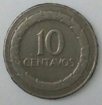 monedas de : America : Colombia : 1969 reverso