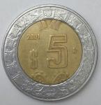 monedas de : America : México : 2011 - 5 pesos