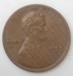 monedas de : America : Estados_Unidos : 1977 error one cent