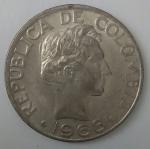 monedas de America - Colombia -  1968 - 50 centavos