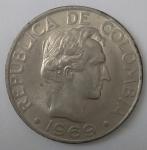 monedas de America - Colombia -  1969 - 50 centavos