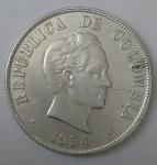 monedas de America - Colombia -  1934 plata 50 centavos
