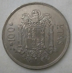 monedas de Europa - España -  1975 - 100 pesetas