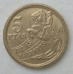 monedas de Europa - España -  1997 - 5 pesetas
