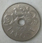 monedas de Europa - Noruega -  1998 - 1 kroner