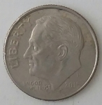 monedas de America - Estados Unidos -  2015 one dime