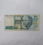 monedas de : America : Brasil : 200 cruzeiros