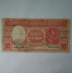 monedas de America - Chile -  10 pesos