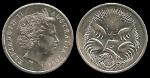 monedas de Oceania - Australia -  Australia: 5 Cents (Echidna) 2004 km401