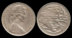 monedas de Oceania - Australia -  Australia: 20 Cents 1970 km66