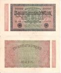 monedas de Europa - Alemania -  Alemania 20000 Marcos  Feb 20, 1923 P-85b