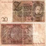 monedas de Europa - Alemania -  Alemania 20 Reichsmark  Ene 22, 1929 P-181