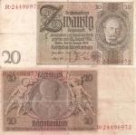 monedas de Europa - Alemania -  Alemania 20 Reichsmark  Ene 22, 1929 P-181/1-1