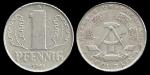 monedas de Europa - Alemania -  Alemania 1 Pfennig (large design) 1961 km8.1