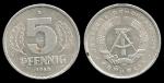 monedas de Europa - Alemania -  Alemania 5 Pfennig (small design) 1983 km9.2