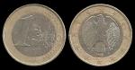 monedas de Europa - Alemania -  Alemania 1 Euro (circular eagle - A, D, F, G, J) 2002 km213