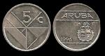 monedas de Europa - Holanda -  ARUBA 5 Cents 1996 km1