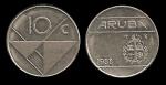 monedas de Europa - Holanda -  ARUBA 10 Cents 1988 km2