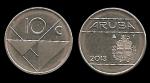 monedas de Europa - Holanda -  ARUBA 10 Cents 2013 km2