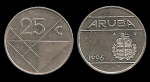 monedas de : Europa : Holanda : ARUBA 25 Cents 1996 km3