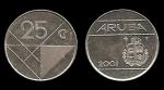 monedas de : Europa : Holanda : ARUBA 25 Cents 2001 km3
