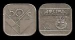 monedas de : Europa : Holanda : ARUBA 50 Cents 1992 km4