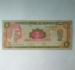 monedas de : America : Nicaragua : Cinco cordobas