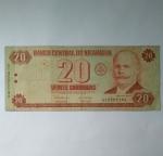 monedas de : America : Nicaragua : 20 cordobas