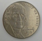 monedas de America - Estados Unidos -  2015 p dice cents