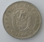 monedas de America - Panamá -  1966 - 5 centavos